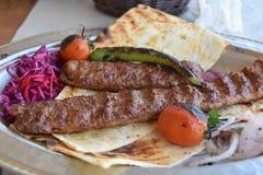 Turkish food Kebab royalty free stock images