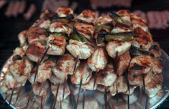 Turkish food Mixed kebab in the restaurant Stock Image