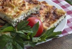 Turkish Food. Yufka böregi, pie cheese Stock Images