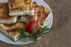 Turkish Food. Yufka böregi, pie cheese Stock Photo