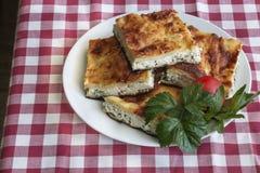 Turkish Food. Yufka böregi, pie cheese Royalty Free Stock Photos