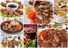 Turkish Foods Collage. The Traditional delicious Turkish foods various collage stock images