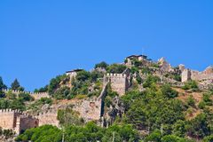 Turkish fortress in Alanya Royalty Free Stock Photography