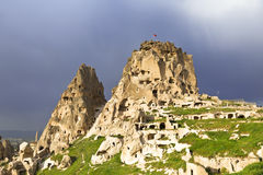 The Turkish fortress of Uchisar, Cappadocia, Stock Photography