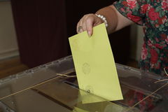 Turkish General Elections Royalty Free Stock Photos