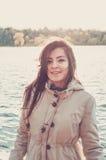 Turkish girl near a lake Royalty Free Stock Photos