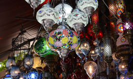 Turkish Glass Lamps for Sale Royalty Free Stock Photo