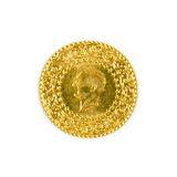 Turkish Gold Coin Stock Photos