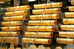 Turkish gold shop Stock Images