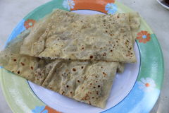 Turkish gozleme tortillas stuffed with potatoes and cheese Stock Image
