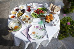 Turkish and Greek Breakfast Stock Images
