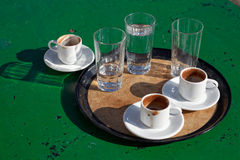 Turkish, greek coffee Stock Photography