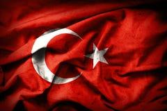 Turkish grunge Flag. An old Turkey flag. Turkish grunge Flag. A turkish flag with a grunge texture stock photos
