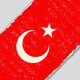 Turkish grunge flag. Vector illustration. Stock Photography