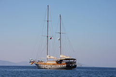 Turkish gulet sailing boat Royalty Free Stock Photos