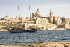 Turkish Gulet yacht, Valetta Malta. stock images