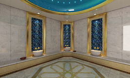 Turkish Hamam, bath modern design Stock Photos