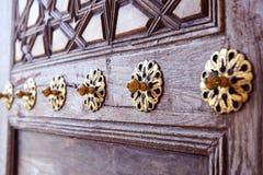 Turkish Handicrafts wooden vintage background door Stock Photos