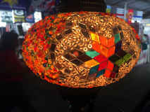 Turkish Handmade Mosaic Lamp. Royalty Free Stock Image