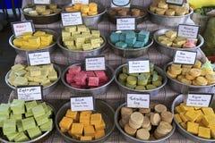 Turkish handmade soap. City market, Kemer, Turkey. Turkish handmade soap with names in three languages (english, turkish, russian Royalty Free Stock Photos