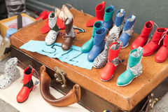 Turkish handmade souvenirs, colorful boots Royalty Free Stock Photography