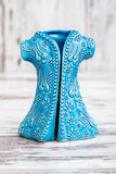 Turkish Handmade  Symbolic Ceramic Figurines on White Wooden Bac Royalty Free Stock Photography
