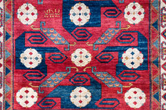 Turkish homemade carpet Stock Images