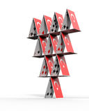 Turkish House of cards royalty free illustration