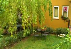 Turkish house patio Royalty Free Stock Photo
