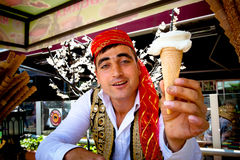 Turkish Ice Cream Vendor Stock Photography