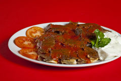 Turkish iskender kebab Royalty Free Stock Photos