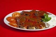 Turkish iskender kebab Royalty Free Stock Photos