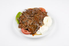 Turkish iskender kebab Stock Images
