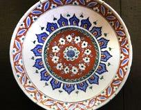 Turkish Iznik arabesque ceramic pottery dish Royalty Free Stock Photography