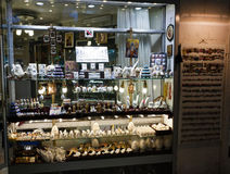 Turkish jewelry for sale in Istanbul Grand Bazaar. Royalty Free Stock Photo