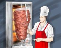 Turkish kebab royalty free illustration