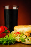 Turkish kebab and cola Royalty Free Stock Image