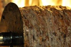 turkish kebab doner зажаренный в духовке мясом Стоковое Изображение