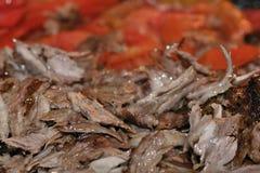 turkish kebab doner зажаренный в духовке мясом Стоковое Изображение RF