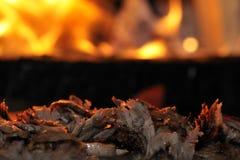 turkish kebab doner зажаренный в духовке мясом Стоковая Фотография RF