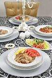 Turkish kebab with french fries and tomatoes Stock Images
