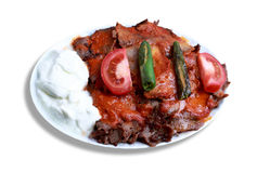 Turkish kebab with yogurt Royalty Free Stock Photography