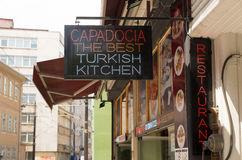 Turkish kitchen sign Royalty Free Stock Photos
