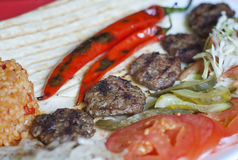 Turkish kofte (meat ball) Royalty Free Stock Images