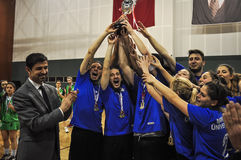 Turkish Korfball Championship Awards Ceremony. National Korfball Championship matches among all Korfball teams in Turkey took place in Mugla city of the country Stock Photo