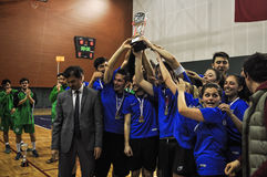 Turkish Korfball Championship Awards Ceremony. National Korfball Championship matches among all Korfball teams in Turkey took place in Mugla city of the country Royalty Free Stock Image