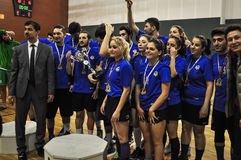 Turkish Korfball Championship Awards Ceremony. National Korfball Championship matches among all Korfball teams in Turkey took place in Mugla city of the country Stock Image