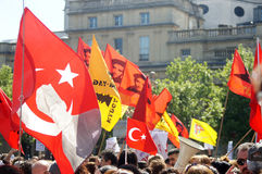 Turkish and Kurdish protesters Stock Image