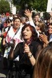 Turkish & Kurdish women protesters Stock Photos