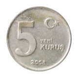 Turkish kurus coin Stock Images